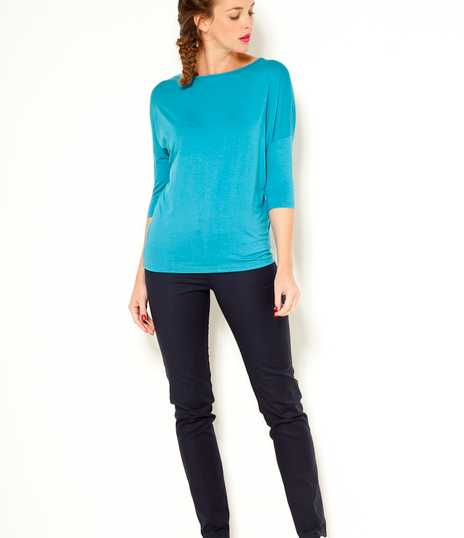 T-shirt femme loose manches 3/4