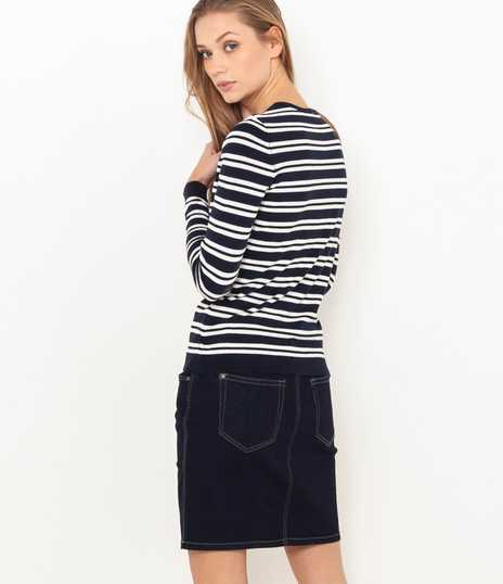 Pull fin col rond femme