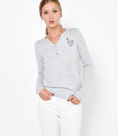 Pull message femme