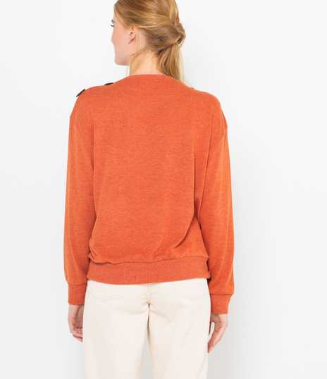 Pull col boutonné femme