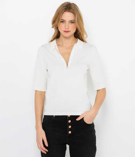Pull polo femme