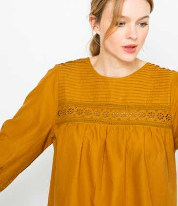 Blouse femme broderie anglaise