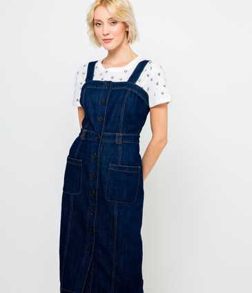 Robe denim boutonnée