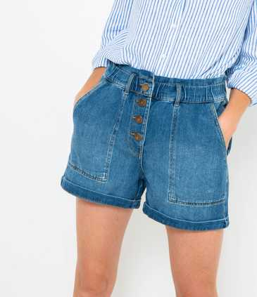Short en jean coupe large
