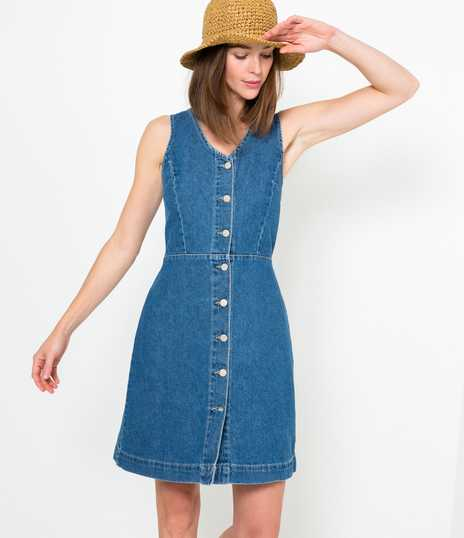 Robe chasuble en denim