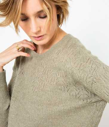 Pull femme col rond