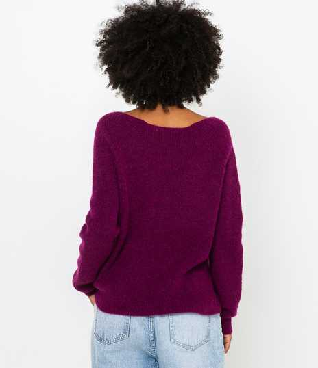Pull femme maille perlée