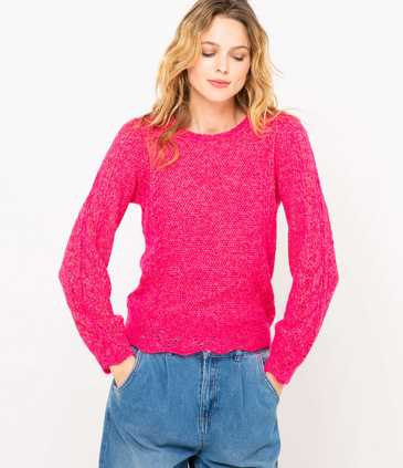 Pull tricot femme fantaisie