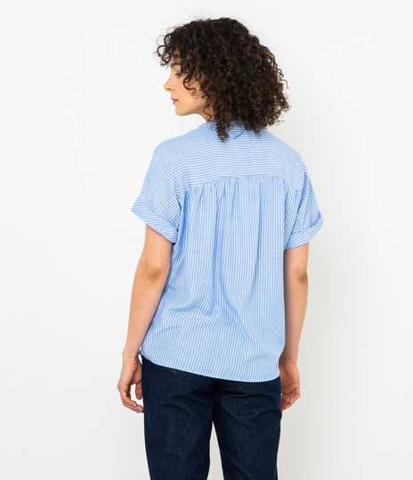 Blouse fines rayures manches courtes