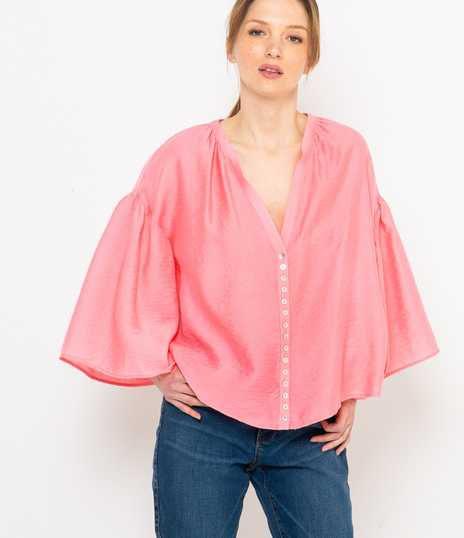 Blouse rose oversize