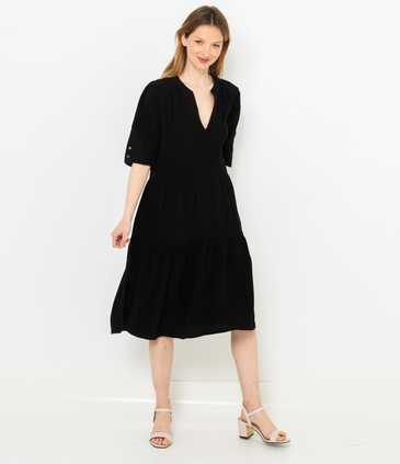 Robe noire taille basse