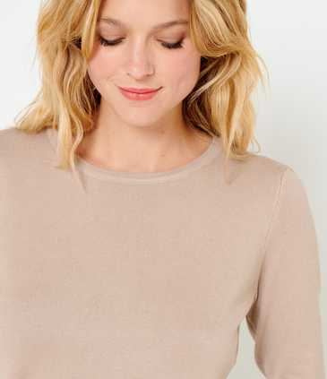 Pull manches ballons femme viscose responsable