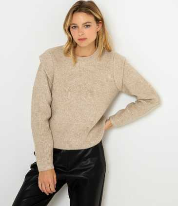 Pull femme maille travaillée
