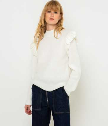Pull maille travaillée femme